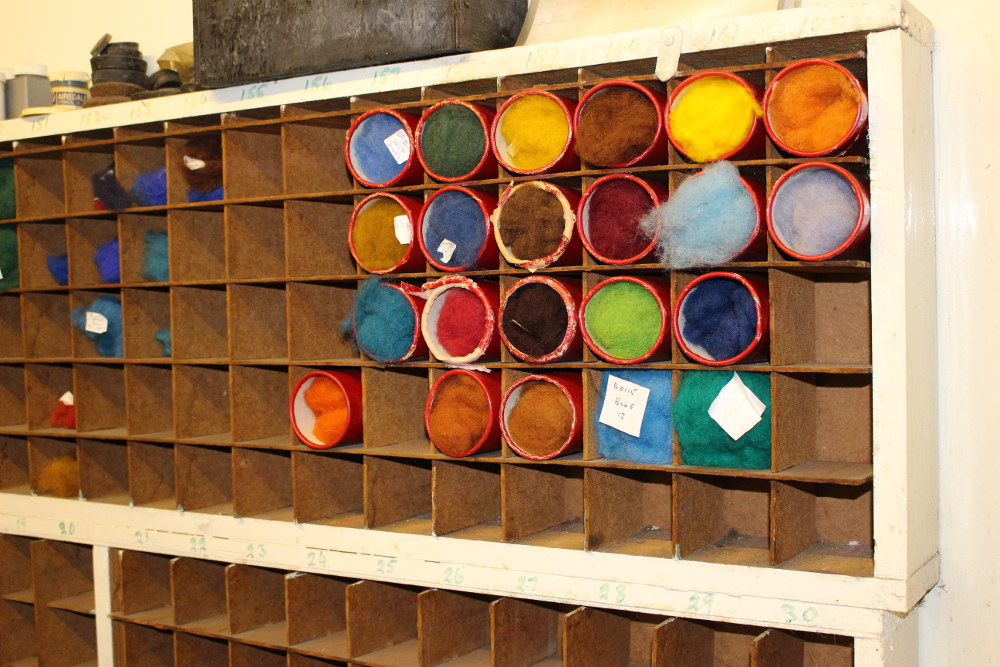 This board contains samples of the most recent dye jobs, so as to reference the resulting colours.