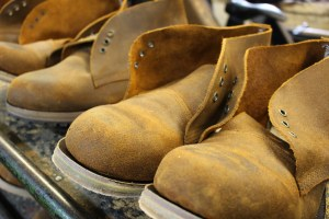 HebTroCo chukka boots under production.