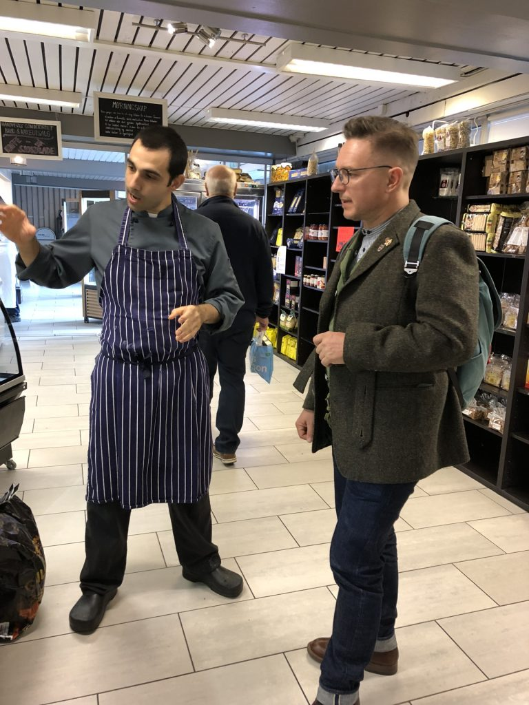 """And this meat has been dry hung for 6 weeks"", being schooled by Fabrizio and Tønsberg Deli."