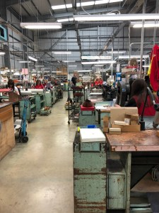 The production line seen from the works floor.