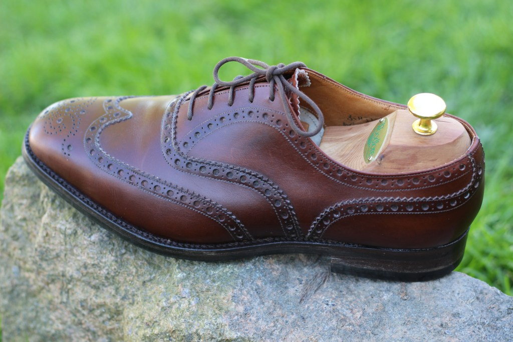 A splendid pair of Church Chetwynd formal brogues, resoled with Dainite soles.