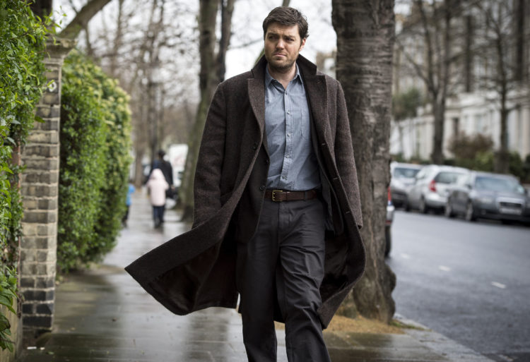 That tweed coat breezily walking the streets with Tom Burke as Cormoran Strike.
