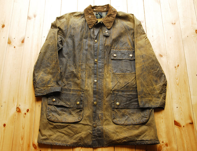 This isn't the actual Barbour Border in question, but the patina and wear are very similar to mine.