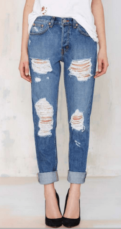 The ironically named boyfriend jean - considering every boyfriend we have hates this style - but we women love this relaxed, edgier look when styled with a vintage style t-shirt. Find the Ex Boyfriend at Nasty Gal for $52.80. I'd hurry! They're 40% off and won't last long. http://bit.ly/1DgbiDH
