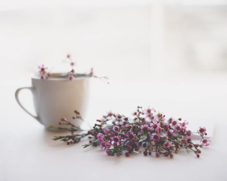 cup and flower