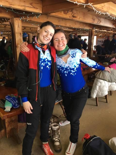 Hannah and Eva before their race