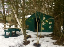 Ski cabin at the retreat