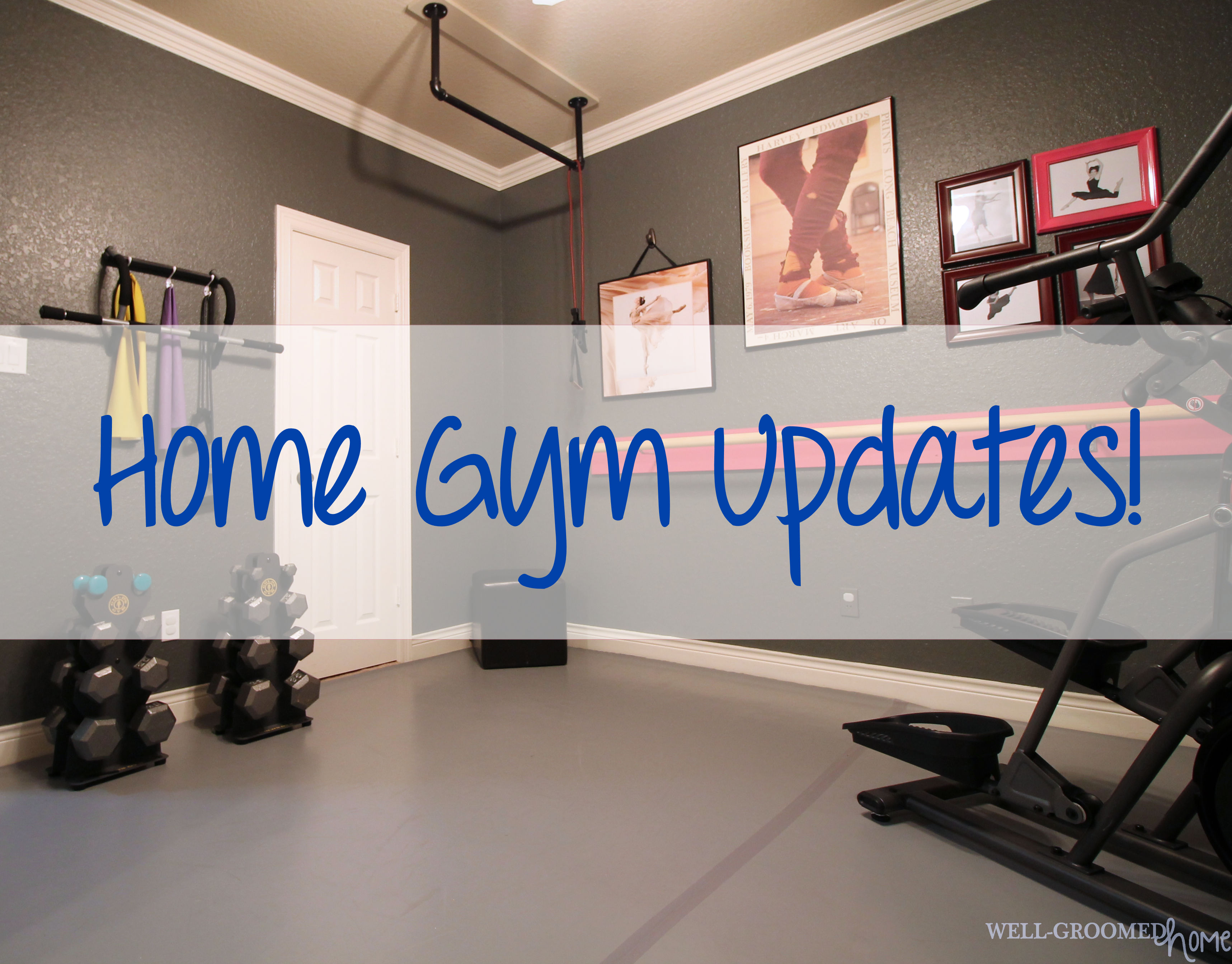 Home gym updates well groomed home