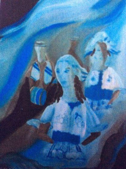 Keti Koti Blue and White-Auli Mousumi De