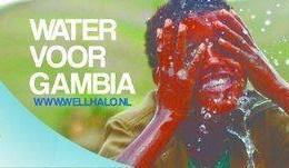 Water voor Gambia etiket