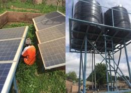 Onderhoud aan de waterpomp in Kerr Sulay