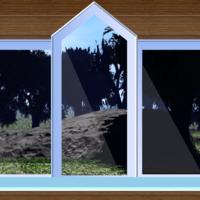 View from the window: Meteorite in the garden