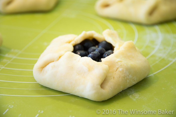 Blueberry Cream Cheese + Mint Crostatas-9