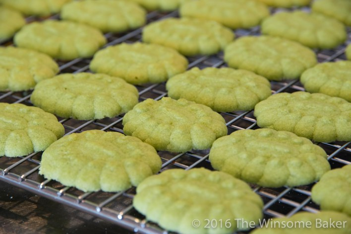 Matcha + White Chocolate Sandwich Cookies -6