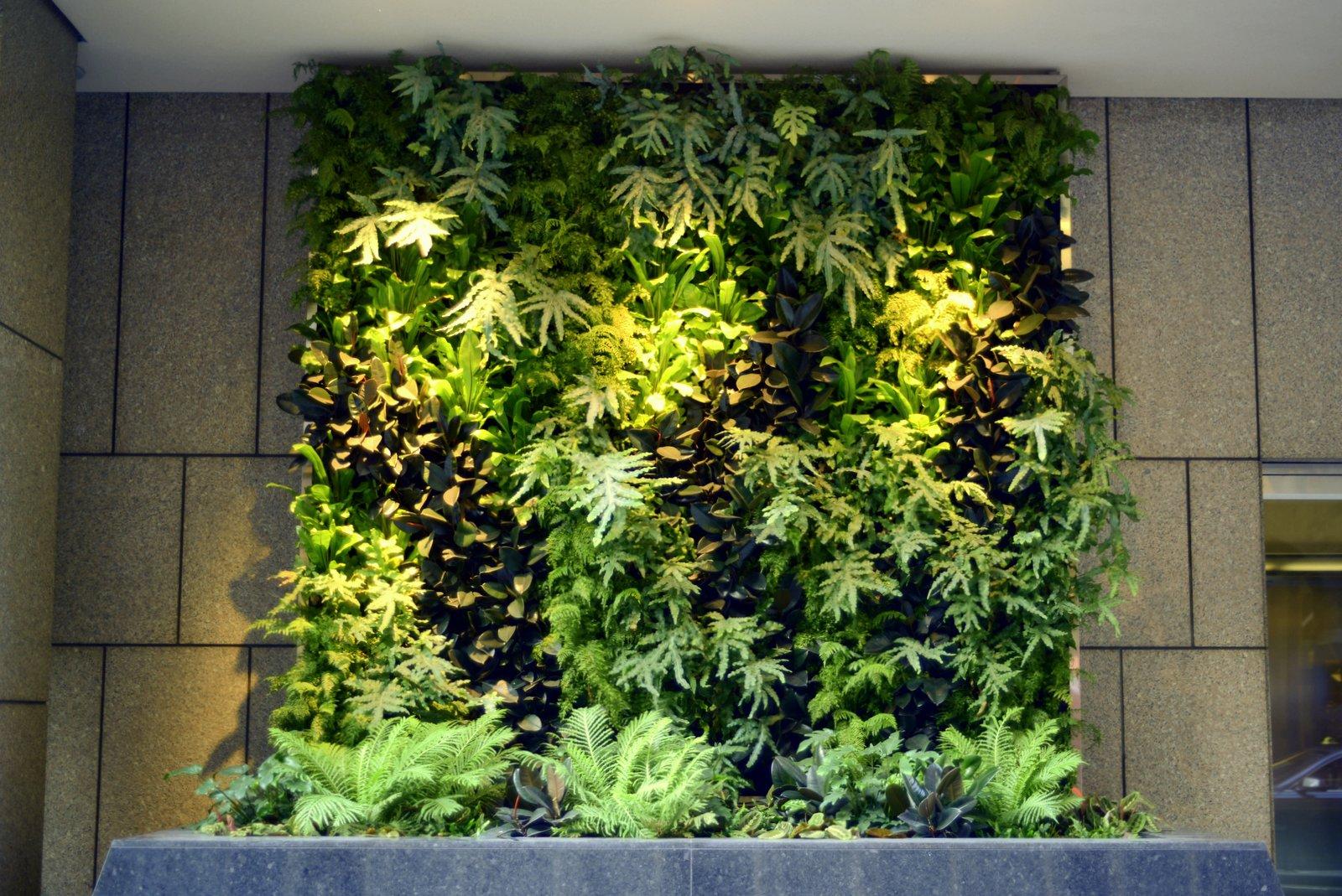 Vertical Wall Garden Home Interior And Furniture Ideas