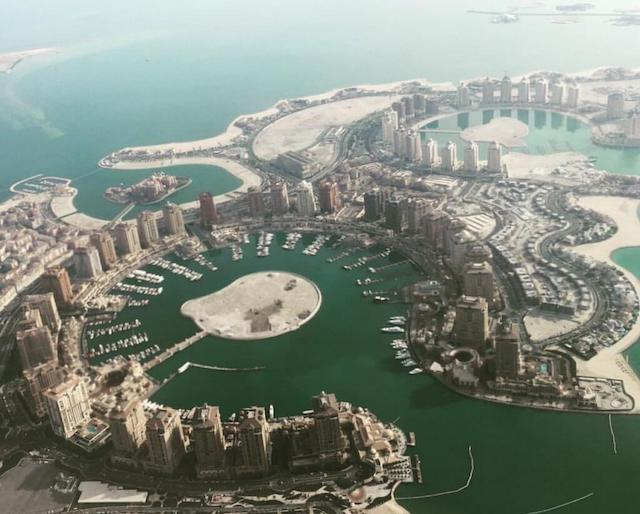 aerial view of the Pearl, Qatar