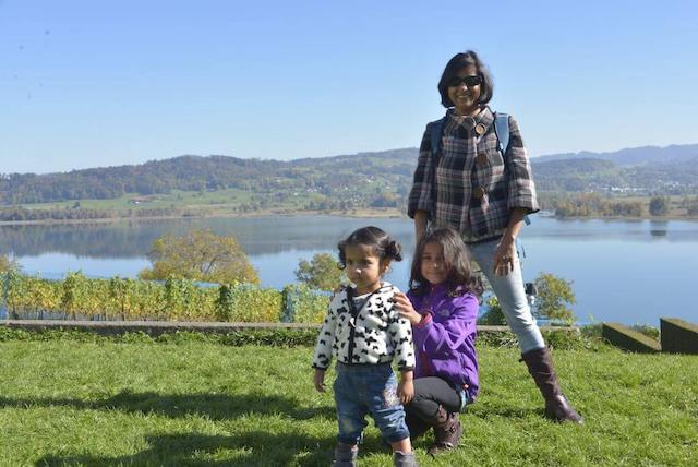 expat life in Switzerland - Sunrita at Lake Zurich