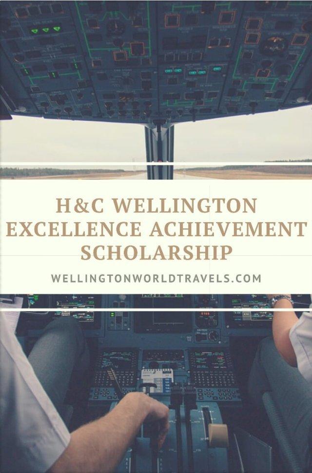 H & C Wellington Excellence Achievement Scholarship - Wellington World Travels | scholarship for pilot students