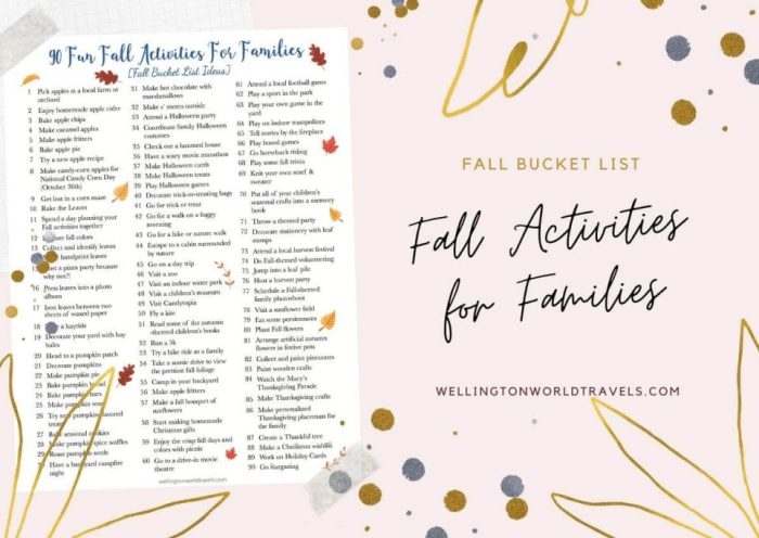90 Fun Fall Activities for Families [Fall Bucket List Ideas] - Wellington World Travels | #fallactivities #autumn