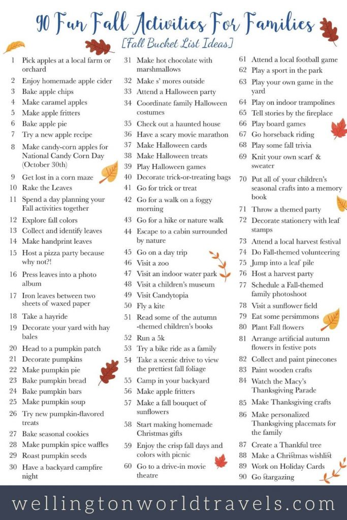 Fun Fall Activities for Families [Fall Bucket List Ideas]