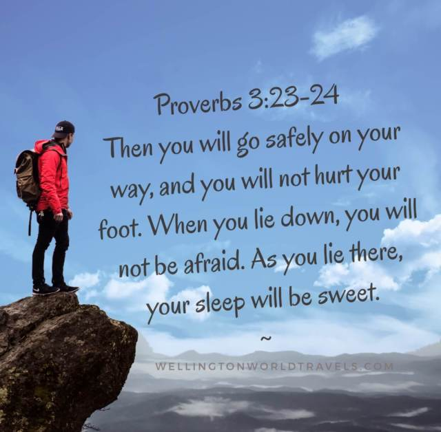 Bible verses about Travel - Wellington World Travels
