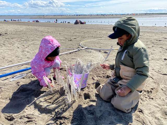 dipnetting with kids