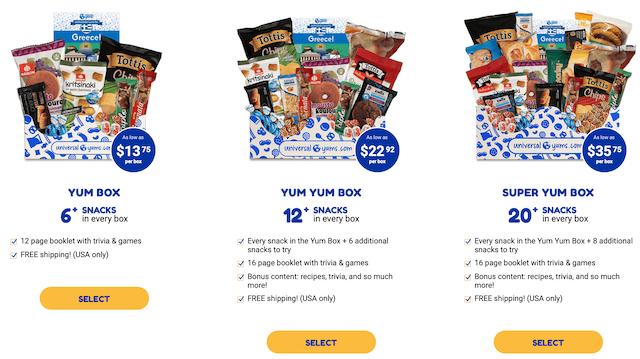Universal Yums (subscription box)