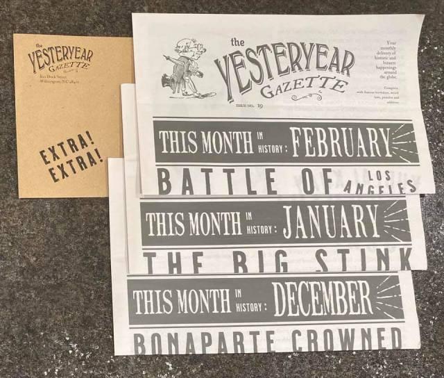 Yesteryear Gazette letters