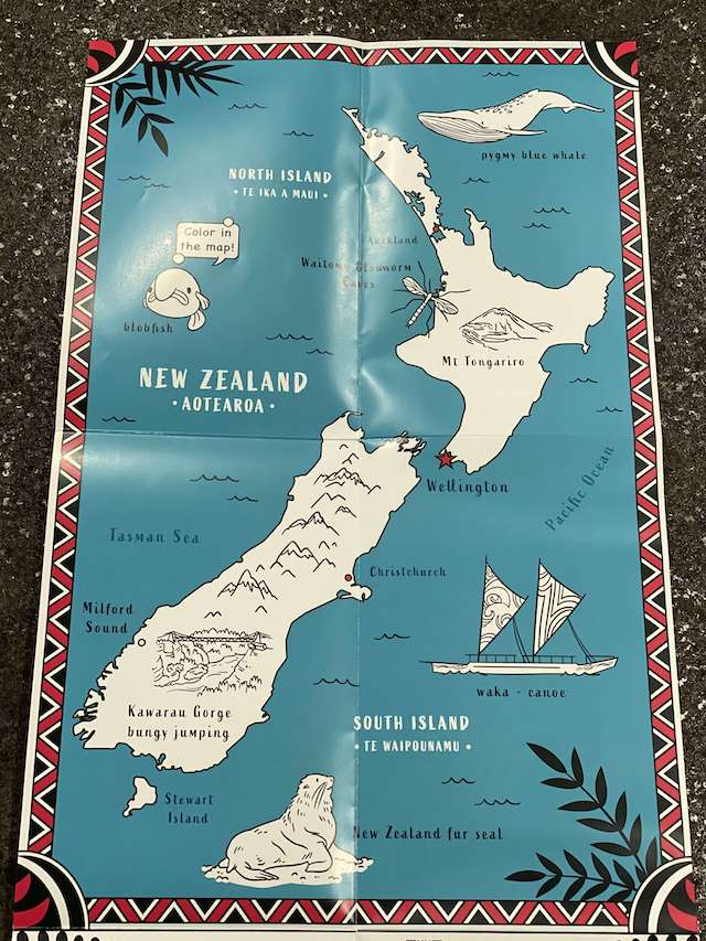 map - New Zealand with Womple Studios