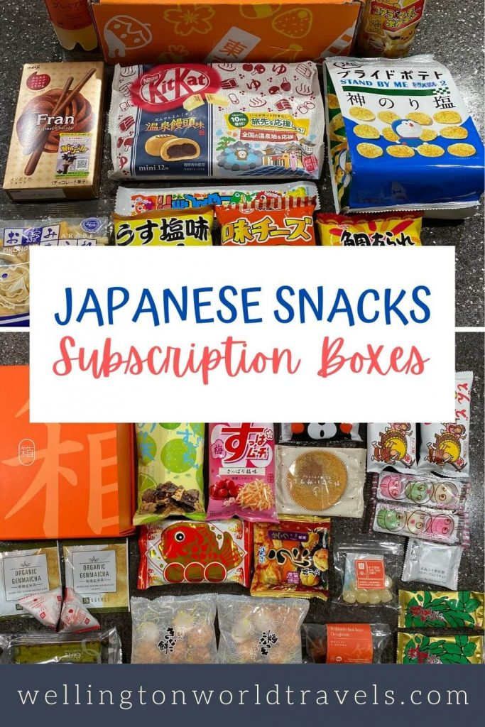 Japanese Snacks Subscription Boxes - Wellington World Travels