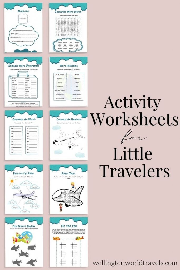 Activity Worksheets for Little Travelers - Wellington World Travels