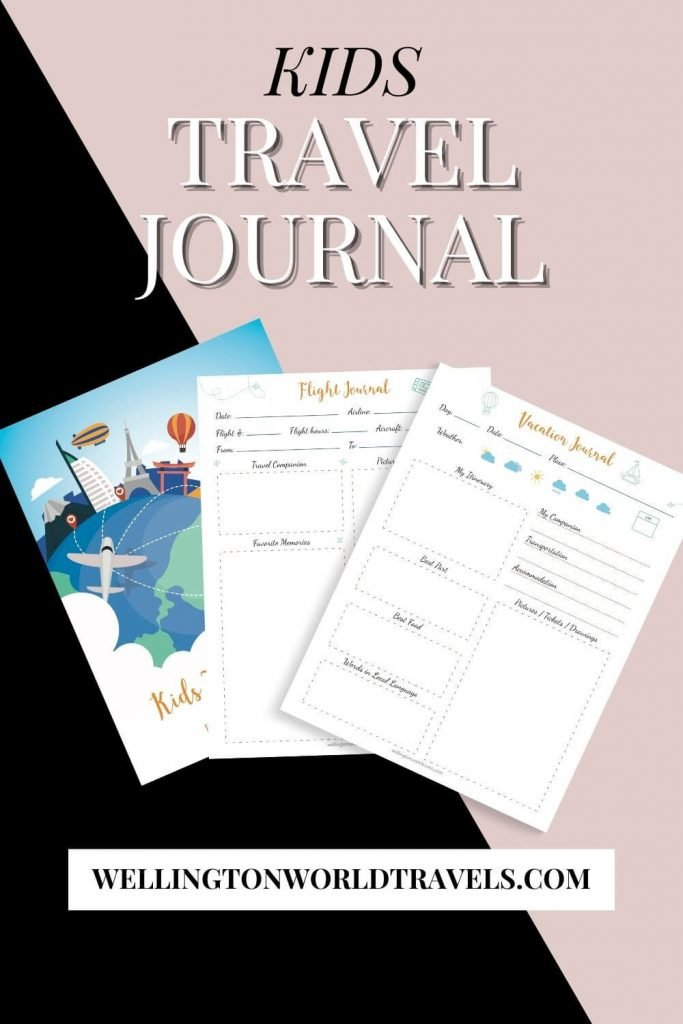 Kids Travel Journal - Wellington World Travels
