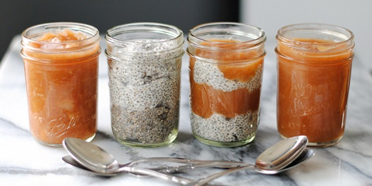 apple butter and chia pudding parfaits