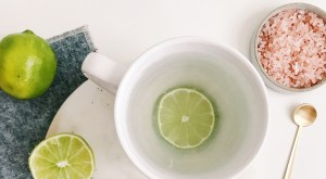 Himalayan salt + lime tonic