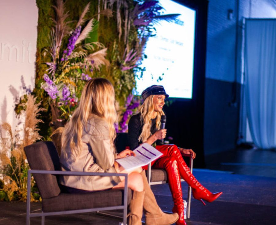 Nastia Liukin at WELL Summit Brooklyn on Oct. 5, with Nicolle Mackinnon. Photo courtesy of Olga Brycht / MissO Photography.