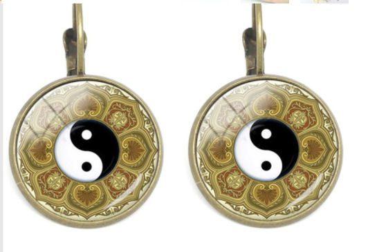 Mandala Oorbellen Yin Yang