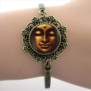Armband Wheel of Dharma bruin