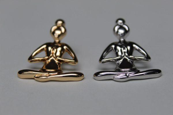 goud- en zilverkleurige Buddha Broche - Pin