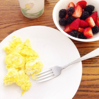 My mom's famous scrambled eggs!