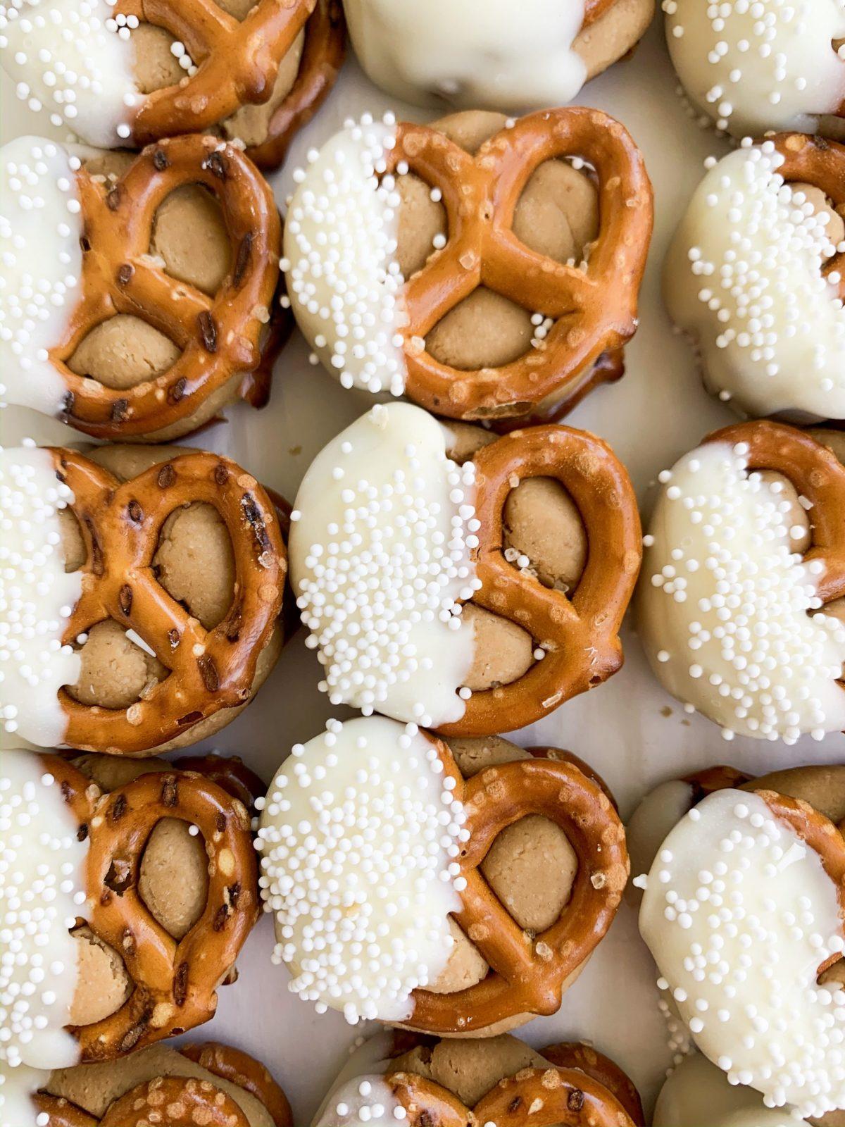White Chocolate Peanut Butter Pretzel Bites