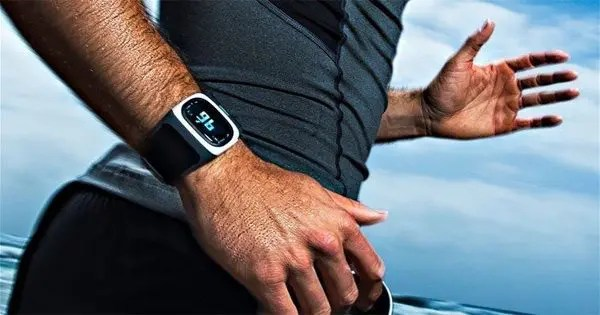 blog picture of runner wearing a fitness tracker on wrist