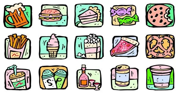 blog illustration of unhealthy foods