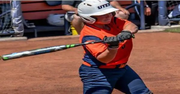 blog picture of softball player hitting ball