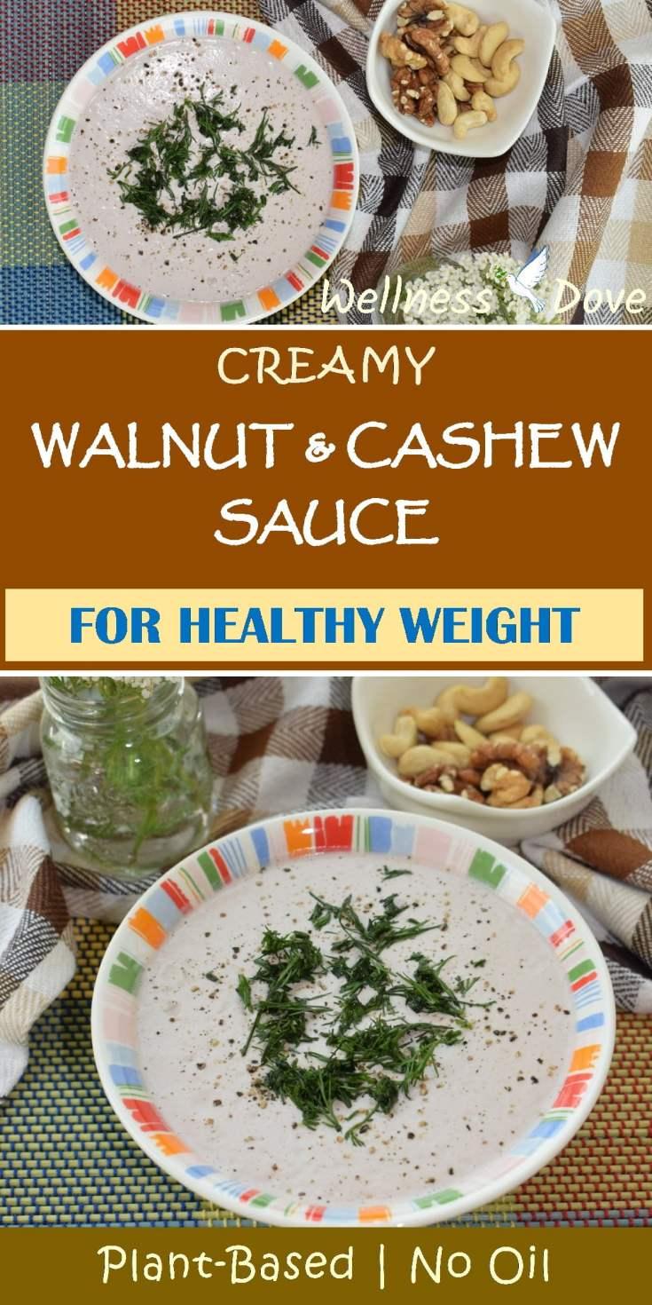 Creamy Walnut & Cashew Sauce   Whole Plant Foods