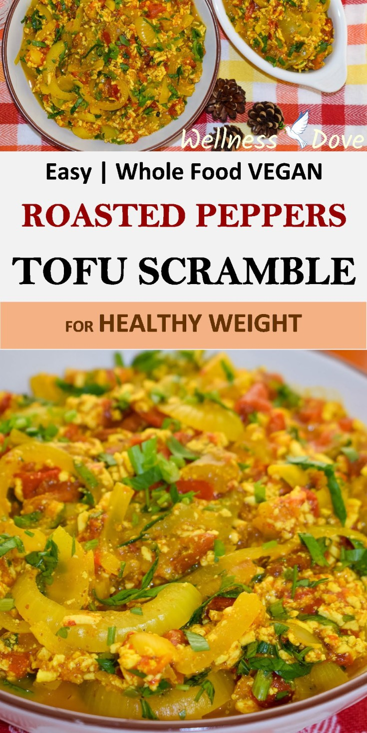 Easy Tofu Scramble with Roasted Peppers | Whole Food Vegan
