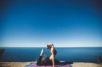Yoga near the beach