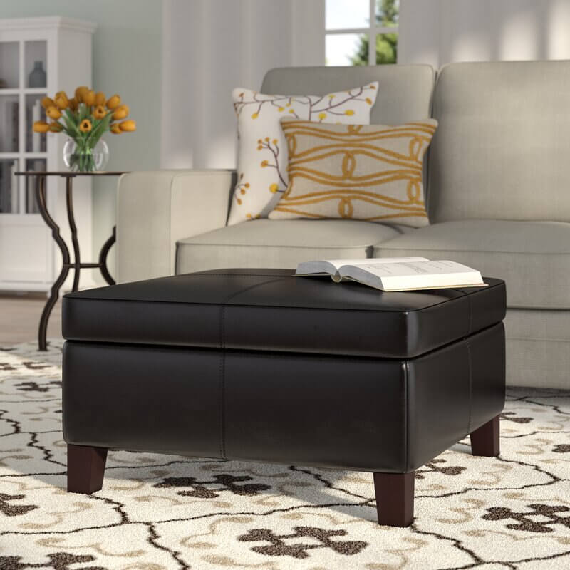 wayfair holiday home decor; leather ottoman