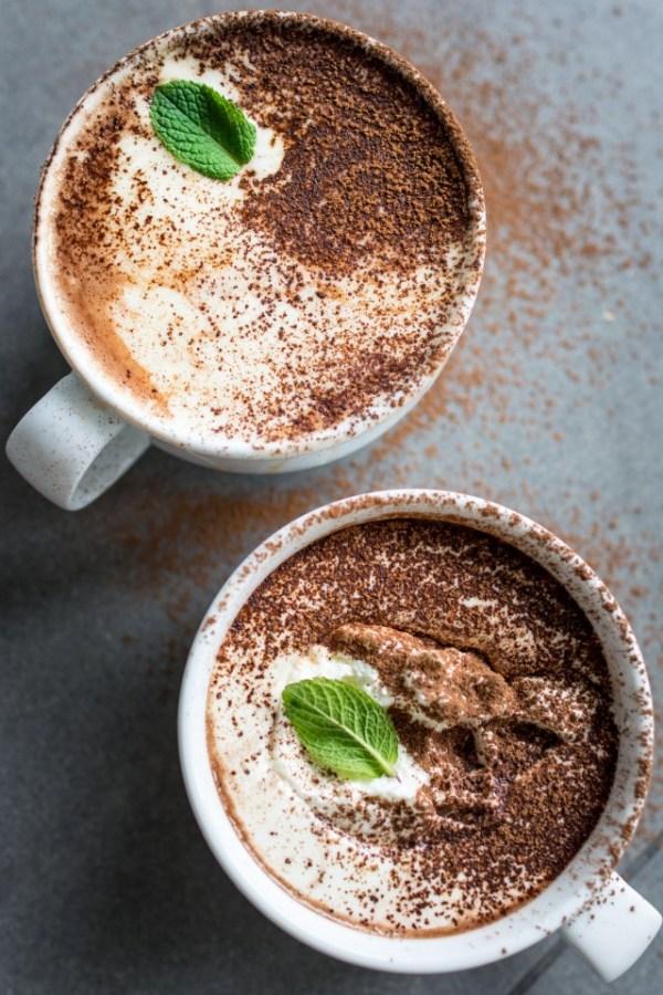 vegan peppermint hot chocolate recipe