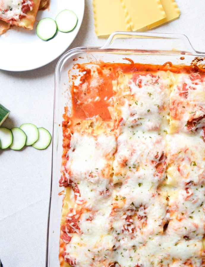 Easy Zucchini Lasagna Roll-ups
