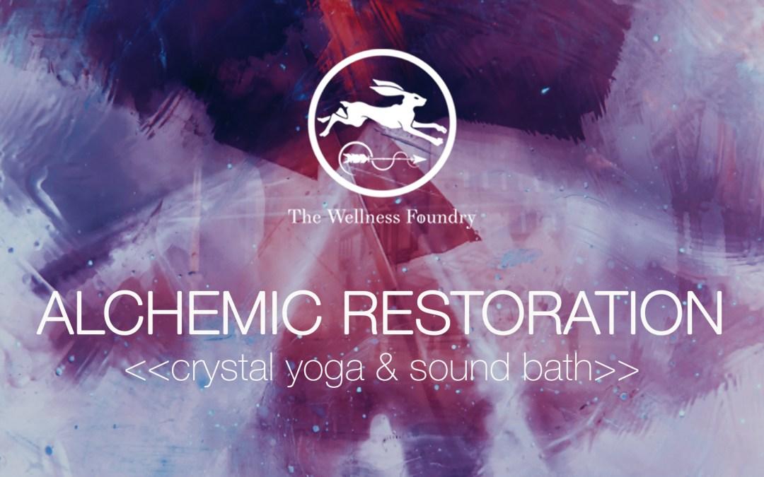 Thursday 4th July, 2019   Crystal Yoga & Sound Bath